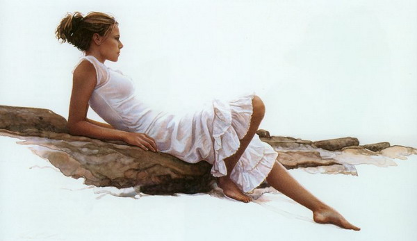 Steve Hanks [a watercolor artist who gave light to his works]