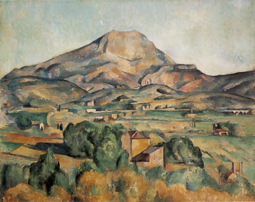 Paul Cezanne La Montagne Saint Victoire Barnes