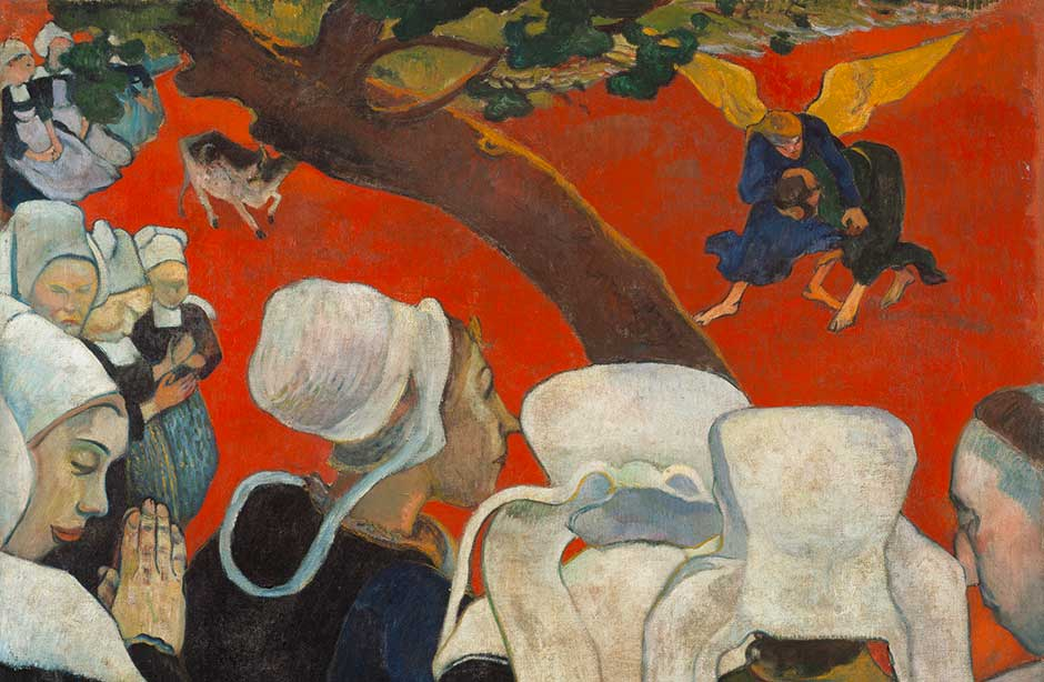 Paul-Gauguin-Vision-after-the-Sermon-or-Jacob-Wrestling-with-the-Angel