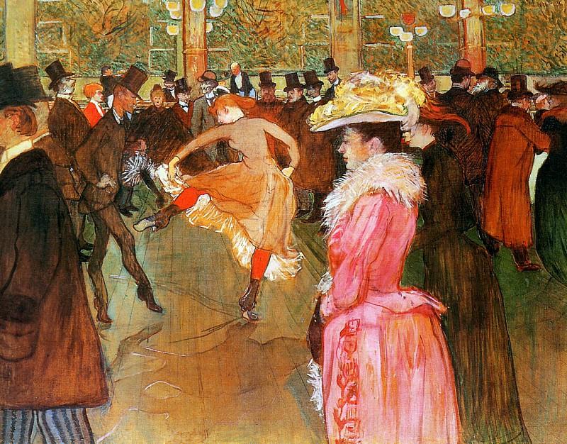 Toulouse-Lautrec de Henri Dance in the moulin rouge Sun