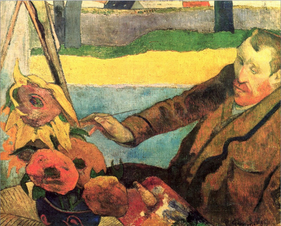 Van-Gogh-Painting-Sunflowers-by-Paul-Gauguin