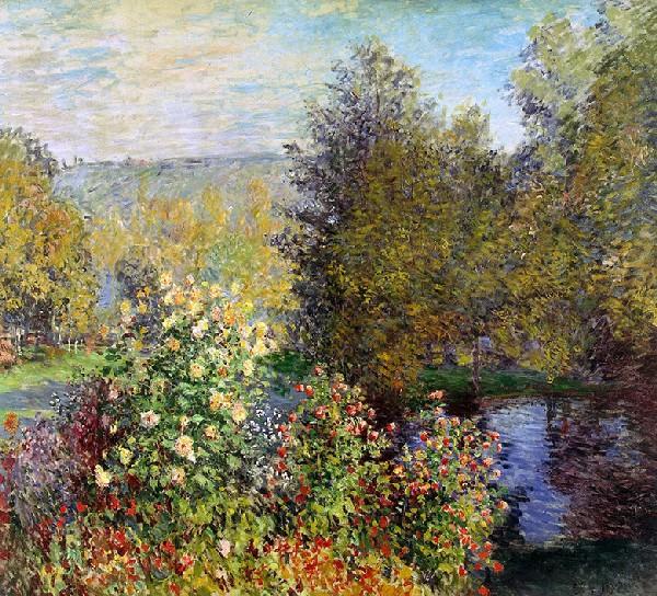 C. Monet corner-of-the-garden-at-montgeron