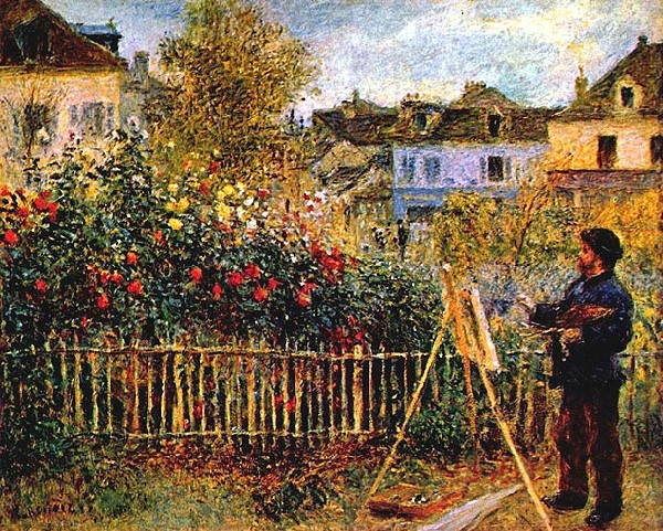 Edouard Manet Monet painting in his garden