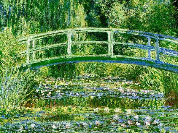 claude monet japanese footbridge