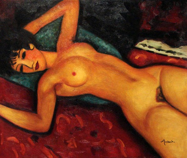 Amedeo Modigliani Lying naked