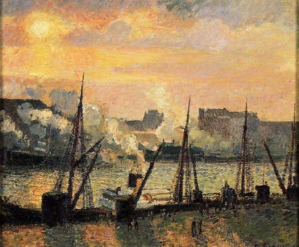 Promenade in Rouen sunset