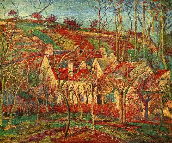 Camille Pissarro Red Roofs