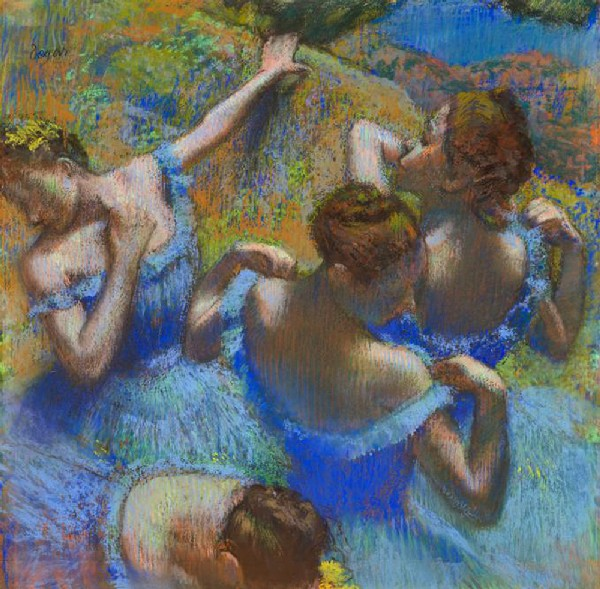the blue dancers