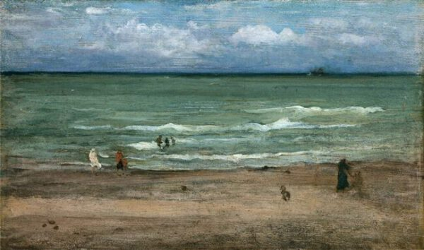 The Sea, Pourville, 1899 (oil on panel)