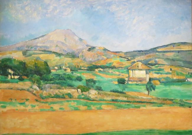 Paul Cezanne View of mount Saint-Victoire from a grove in Chateau-Noir