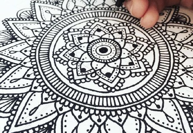 Mandala art for beginners. How to draw a mandala?