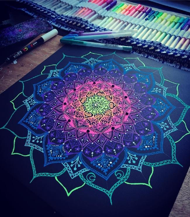 mandala art on a4